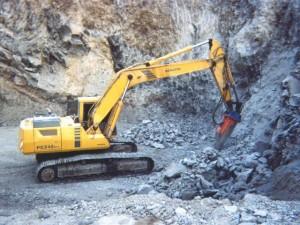 Excavaciones en piedra con martillo neumatico 1